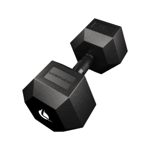 PRO HEX Rubber Dumbbell 30 Kg Hexagonal Dumbbells Lacertosus