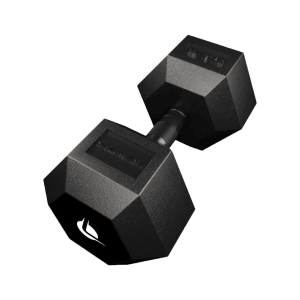 PRO HEX Rubber Dumbbell 37.5 Kg Hexagonal Dumbbells Lacertosus