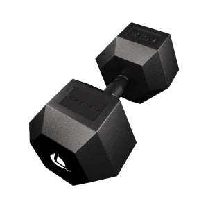 PRO HEX Rubber Dumbbell 40 Kg Hexagonal Dumbbells Lacertosus