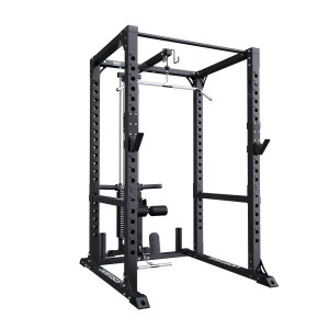 Pro Power Rack + Lat Machine Rigs - Racks Lacertosus