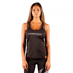 Women's Tank Top L Black Donna abbigliamento fitness Lacertosus